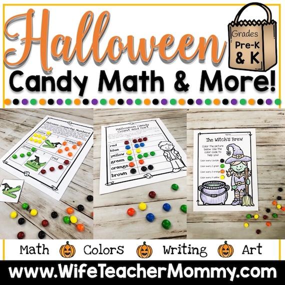 Halloween Candy Math Activities & More for Kindergarten and