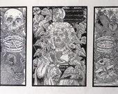 St Francis linocut block print printmaking