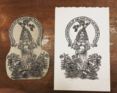 Poverty Psalms linocut printmaking blockprint