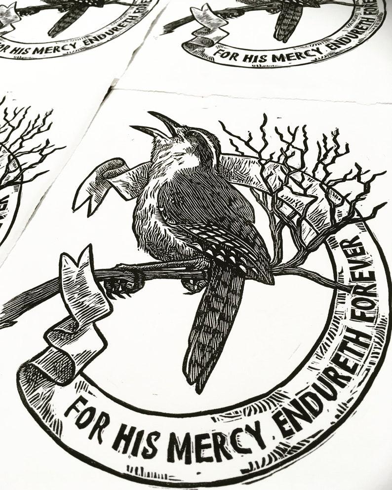 Carolina Wren / Psalm 136 / bird / art / St Francis / biblical image 0