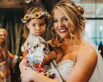 47e3fb50f23 Flower Girl Robe - Flower Girl Gift - Girls Robes - Flower Girl Robes Set -  Gift Set - Satin Robe - Bridesmaid Gift - Bridal Party Robes