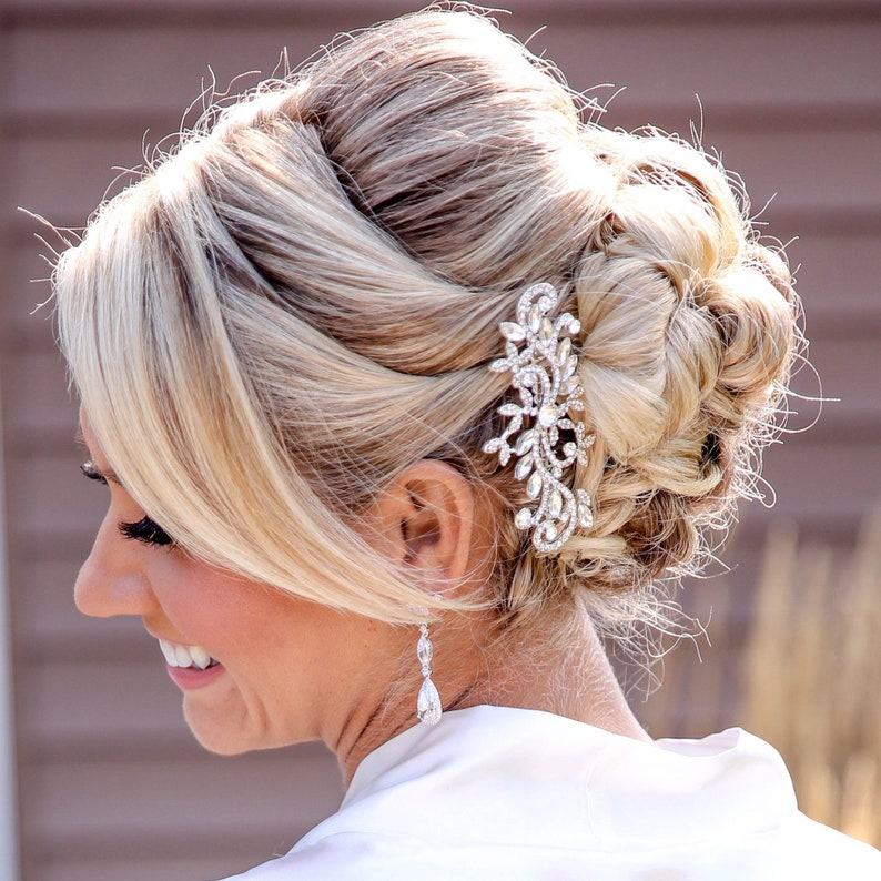 Wedding Hair Comb Bridal Hair Comb Crystal Bridal Comb image 0