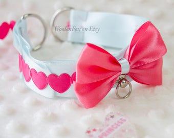 Bubblegum Heart Collar