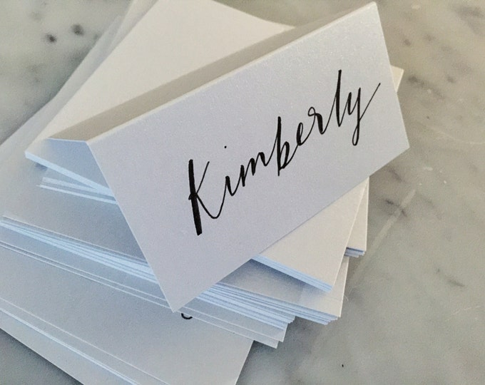 Custom Hand Drawn Black Lettering Sign / Name Cards Tags / Place Card / Calligraphy/ Party Event Wedding Birthday Outdoor Hens/