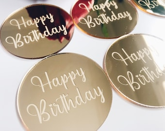 Perspex Acrylic Toppers