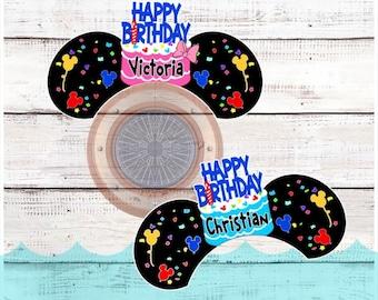 Personalized Birthday Disney Cruise Door Magnet Porthole