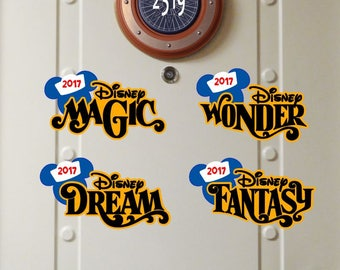 Disney Cruise Magnet - DCL Ships