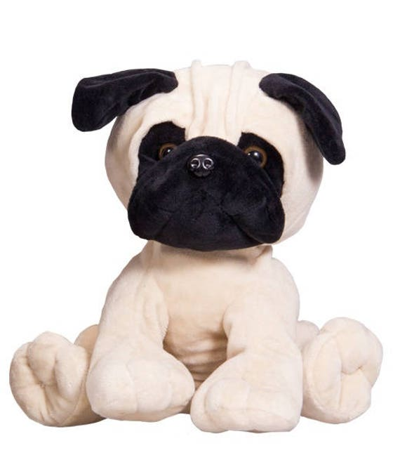 Recordable 16 Plush Pug Dog W 20 Second Digital Voice Etsy