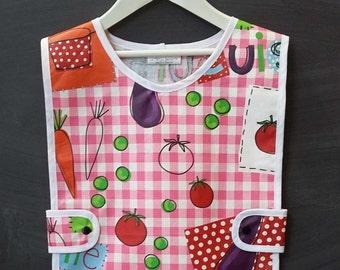 Kids apron Pink Plaid - apron - gardening apron - apron, craft supplies