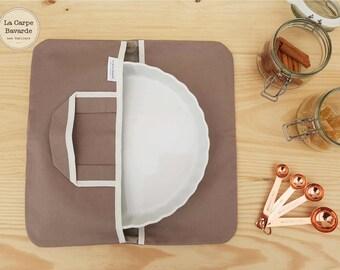 pie bag - flat door - quiche door - taupe - pie -picnic bag