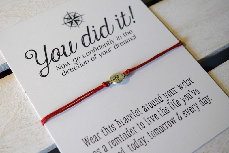 You Did It  Congratulations Card  Graduation gift  College image 1