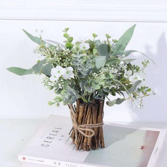 Artificial Flower Arrangement Fake Plants Home Decor Rustic Etsy