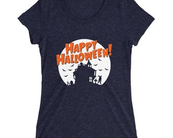 Women's Triblend Halloween T-Shirt (Ships from the USA)