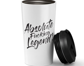 Absolute Legend Stainless Steel Re-usable Coffee Tumbler (Ships from Australia)