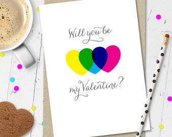 Will You Be My Valentine? Valentine's Day Card (Ships from Australia)