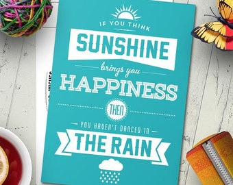 5 pack of 'Sunshine and Rain' Postcards (Ships from Australia)