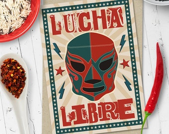 Lucha Libre Mexican Wrestler Greetings Card (Ships from Australia)