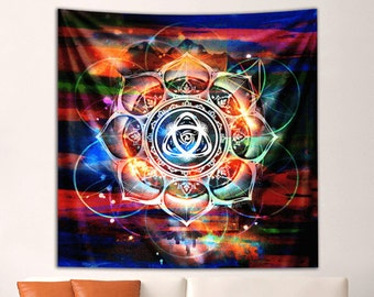 Officaily Licensed DUB FX Theory of Harmony Mandala Tapestry by Third Eye Tapestries