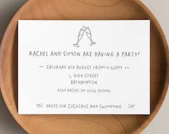 Personalised Party Invitations • Hen Party Invitations • Stag Party Invitations • Cocktail Party Invitations • Engagement Party Invitations