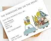 12 Personalised Change of Address Cards, New Home Announcements, House Move Cards, New Address Postcards, New Home. Personalised.