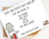 12 Printed Change of Address Cards, New Home Announcements, House Move Cards, New Address Postcards, New Home Gift. Personalised.