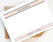 Writing Set: Pack of Feminine Personalised Note Cards | Personalised Stationery, Personalised Gift and Envelopes, Gift for Her.