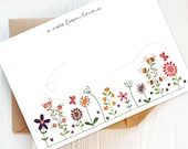 Writing Set: Pack of Pretty Floral Personalised Note Cards and Envelopes | Personalised Stationery, Personalised Gift, Gift for Her