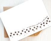 Writing Set: Pack of Paw Prints Personalised Postcards and Envelopes | Choice of Colours. Personalised Dog Lovers Gift. Cat Lover's Gift