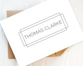 Writing Set: Pack of Men's Note Cards | Men's Custom Stationery, Men's Personalised Stationery, Men's Stationery, Gift For Him.