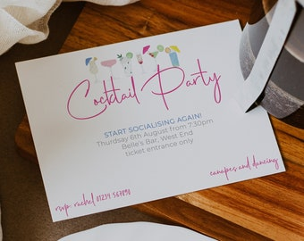 Cocktail Party Invitations | Hen Party Invitations | Stag Party Invitations | Cocktail Party Invitations | Engagement Party Invitations