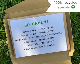 Eco-friendly recycled note cards and envelopes - **ADD ON ONLY** |  Stationery | Recycled Note Cards | Recycled Writing Paper