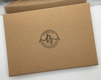 Kraft Storage Box Tied with Ribbon Eco Friendly gift wrap Add an A6 Gift Box Fits up to 4 pocket notebooks or many A6 postcards etc