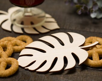 Leaf Coasters Etsy