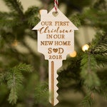 Our first Christmas in our new home ornament, Personalized gift, Our first Christmas ornament, First Home Christmas ornament, Home key decor