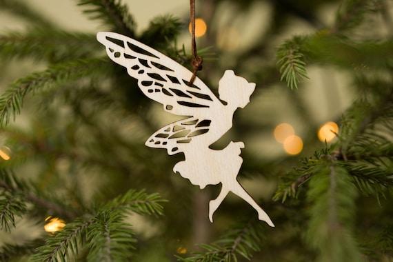 Fairy Christmas Ornaments.Christmas Fairy Set Of 12 Wood Fairy Christmas Ornaments Fairy Ornament Set Christmas Tree Decor Wood Christmas Ornaments