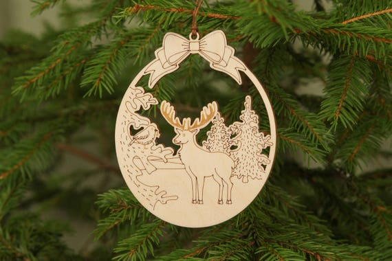 image 0 - Wooden Deer Christmas Decorations