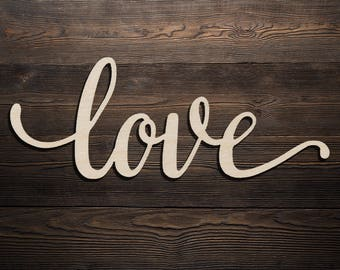 Cursive love sign etsy for Love sign