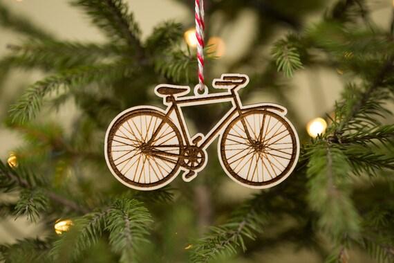 Biker Christmas.Bicycle Christmas Ornament Biker Christmas Ornaments Biking Enthusiast Gift Wood Christmas Ornaments Wooden Christmas Decorations
