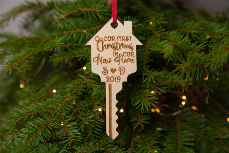 Our first Christmas in our new home ornament Personalized image 0