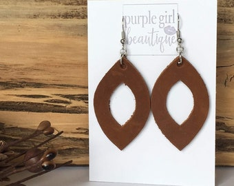 Black leather dangle drop earringdiffuser earringteardrop earringsdiamond earringspopular personalized jewelrygift for her