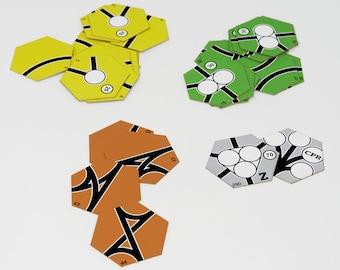 Laser Cut 18XX Tiles