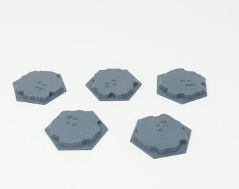 3D Print Memoir 44 Hill Tiles, set of 5