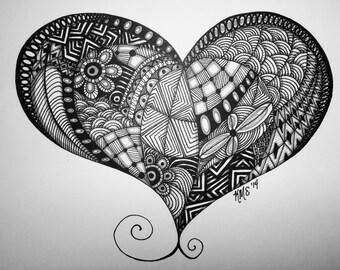 Original Zentangle Heart
