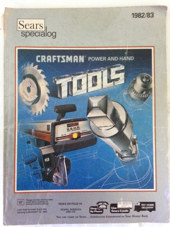 Items similar to Sears Speialog 1982/83 Craftsman Power And Hand