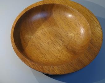 Small Decorative Wooden Bowl Handmade in Iroko.