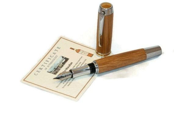 Wooden Fountain Pen in Oak from Macallan Single Malt Whisky Cask
