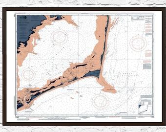 Cape Hatteras, Outer Banks, Nautical Decor, Cape Hatteras Print, Cape Hatteras NC Art, Map Art, Cape Hatteras, Poster, Cape Hatteras Poster