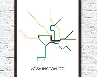 Dc Metro Map Etsy