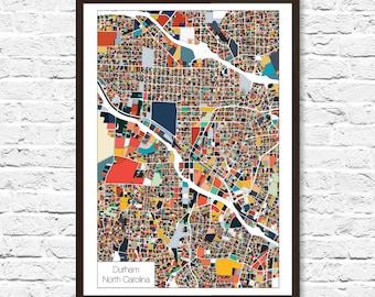Durham Map Etsy