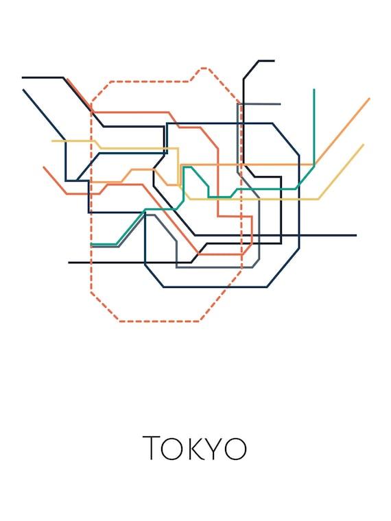 Tokyo Subway Map Framed.Tokyo Metro Tokyo Subway Map Tokyo Subway Art Transit Map Tokyo Print Tokyo Poster Tokyo Art